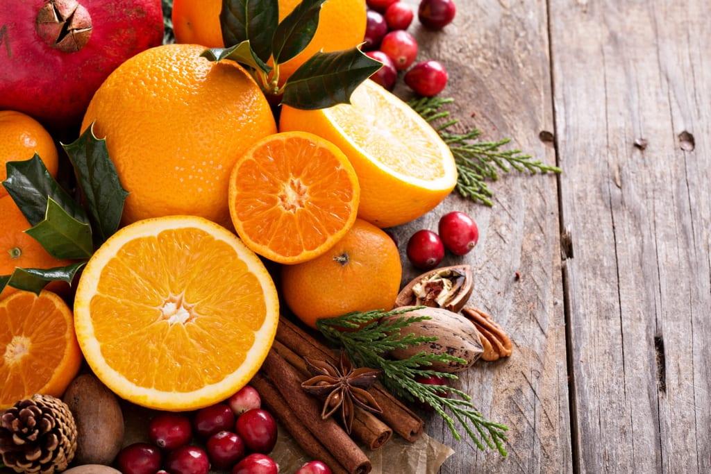 piante da frutto in inverno